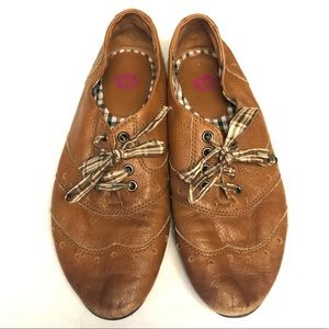 BP leather shoes 8.5 lace up flats
